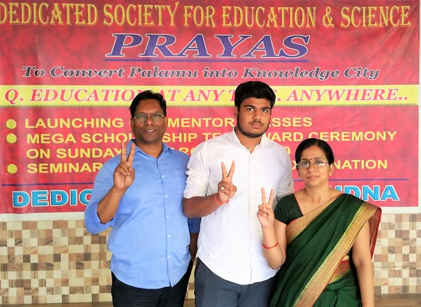 Uttam Kumar (Topper in Arts) With Principal and Secretary of College