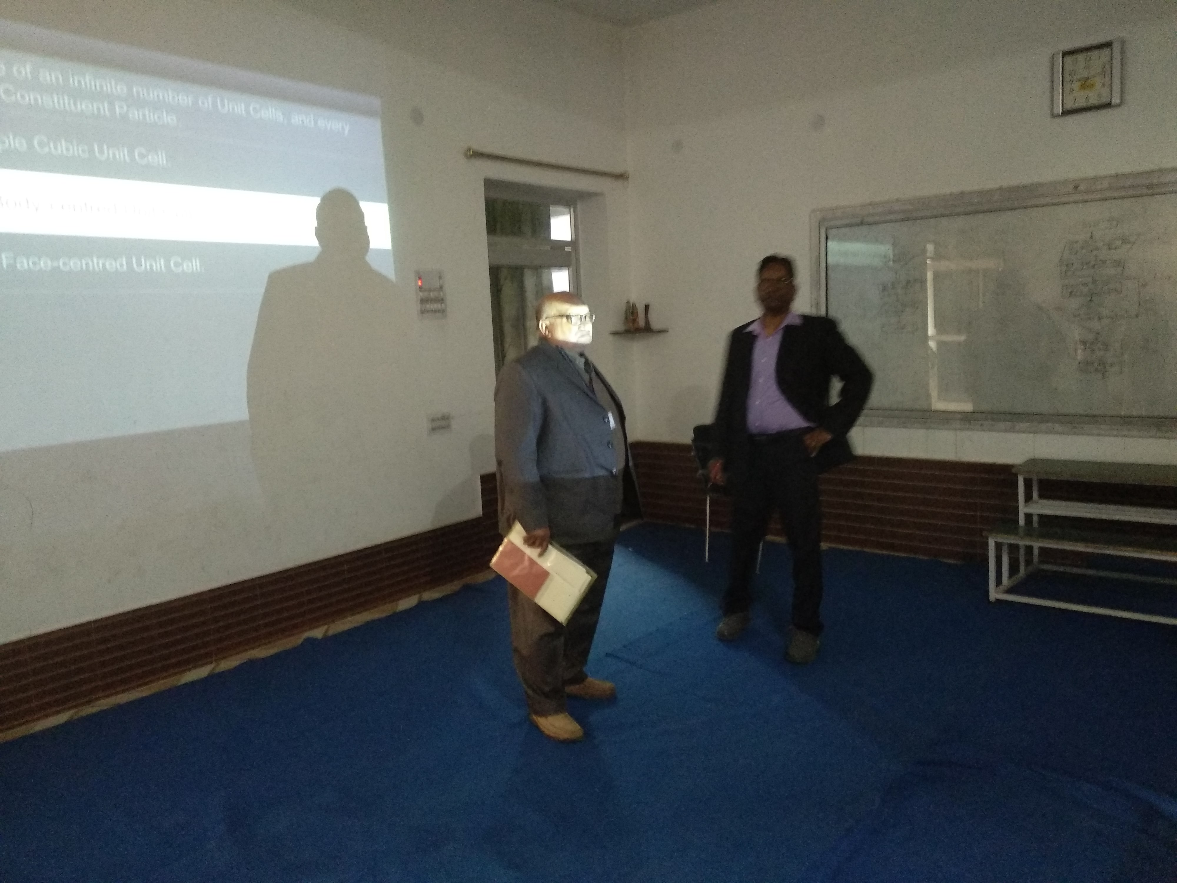 Inspecting Officer inspecting the Smart Classroom